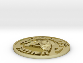 Galaxy's #1 Father Memorial Coin Father's Day Gift in 18K Yellow Gold