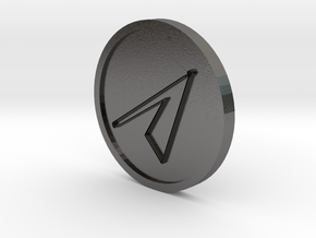Graphiel Intelligence of Mars Coin in Polished Nickel Steel