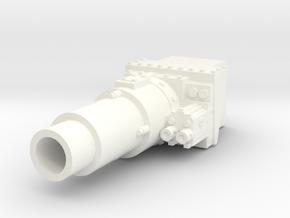 28mm Invader tank short gun - for new turret in White Processed Versatile Plastic