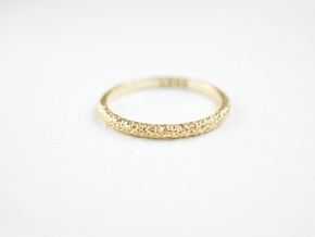 Petite Forged Ring 1.3mm in Natural Brass: 5 / 49
