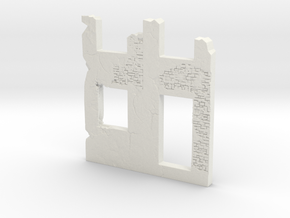Building wall ruins 1/48 in White Natural Versatile Plastic
