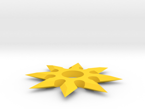 [1DAY_1CAD] SHURIKEN_type2 in Yellow Processed Versatile Plastic