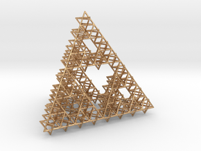 Sierpinski Tetrahedron Variation in Natural Bronze