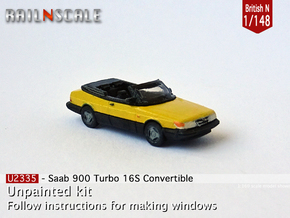 Saab 900 Turbo 16S Convertible (British N 1:148) in Smooth Fine Detail Plastic
