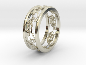 Chameleon path ring in 14k White Gold: 7 / 54