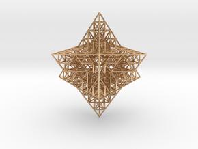 Sierpinski Merkaba Prism in Polished Bronze