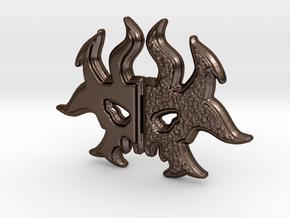 Rakdos Sigil in Polished Bronze Steel