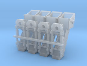 Stairs v1 power cover 10mm (1/400) in Smooth Fine Detail Plastic: 1:400