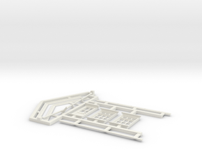 7mm Gilmore Signal Box Detail Parts in White Natural Versatile Plastic