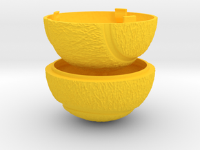 Tennis Ball Ring Box - Sports Engagement Ring Box in Yellow Processed Versatile Plastic