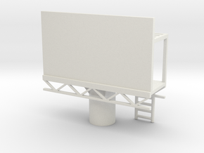 Billboard 1/100 in White Natural Versatile Plastic