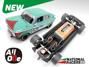 Chassis - Revell NSU TTS (Inline-AiO) in Black Natural Versatile Plastic