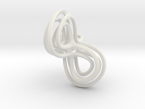 Triple Swirl in White Natural Versatile Plastic