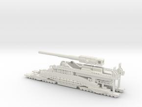 Schwerer Gustav railway artillery 80cm  1/200  in White Natural Versatile Plastic