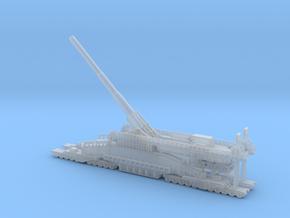 Schwerer Gustav railway artillery 80cm  1/200 in Smooth Fine Detail Plastic