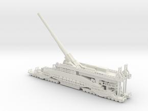 Schwerer Gustav railway artillery 80cm  1/144 in White Natural Versatile Plastic