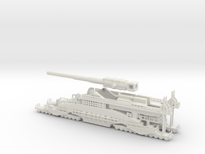Schwerer Gustav railway artillery 80cm  1/160 in White Natural Versatile Plastic