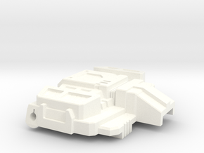 Chic-Capitan chest plate for Siege Starscream in White Processed Versatile Plastic