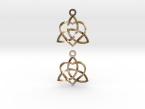 Infinity Love Earrings-Twisted in Polished Gold Steel