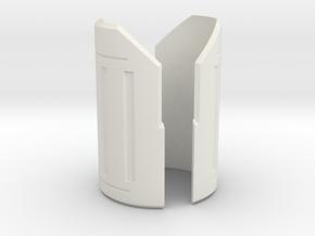 Emitter Shroud - Gladiator in White Natural Versatile Plastic