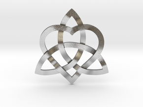 "Infinity Love pendant 1"" in Natural Silver"