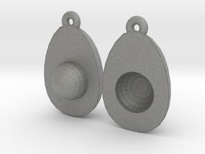Avocado Earring Two in Gray PA12