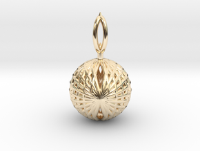 Wire Globe Pendant  in 14K Yellow Gold