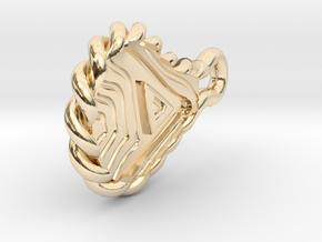 Letter teardrop in 14K Yellow Gold