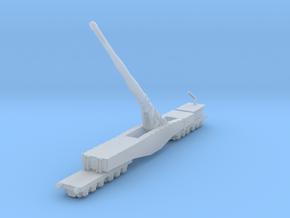 Krupp K5 28cm Leopold railway artillery 1/200 in Smooth Fine Detail Plastic