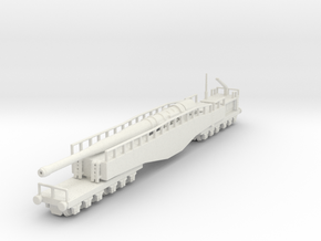 Krupp K5 28cm Leopold railway artillery 1/144 in White Natural Versatile Plastic