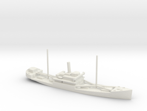 1/1250 Scale 4000 ton Wood Cargo Ship Wishkah in White Natural Versatile Plastic