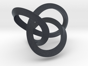 Mobius Figure 8 Knot Pendant - two sizes in Black PA12: Large