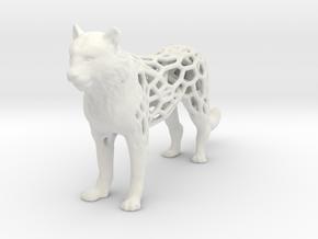 tiger-voronoi in White Natural Versatile Plastic