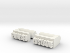 police knuckels in White Natural Versatile Plastic