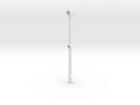 1/20 Scale 2 Hole Stanchion in White Natural Versatile Plastic