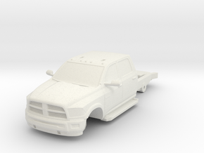 1/87 Dodge 4 Door Short Chassis in White Natural Versatile Plastic