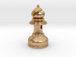 MILOSAURUS Jewelry Staunton Chess Bishop Pendant in Polished Bronze
