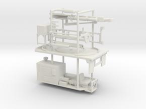 1/64th Guardrail Post Driver Truck Body in White Natural Versatile Plastic