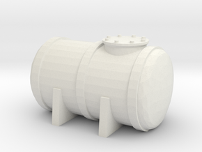 Petrol Tank 1/144 in White Natural Versatile Plastic