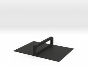 Stackable Plate Carrier Lid in Black Natural Versatile Plastic