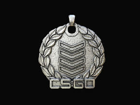 CS:GO - Silver 4 Pendant in Polished Nickel Steel