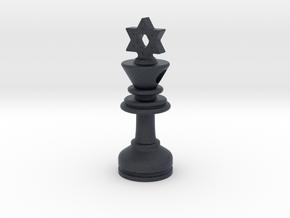 MILOSAURUS Jewelry David Star Chess King Pendant in Black PA12