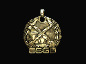 CS:GO - Master Guardian Elite Pendant in Polished Brass