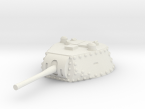 M13 40 Turret 1/35 in White Natural Versatile Plastic