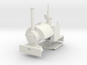Bagnall Sipat 1/24 Scale (Gn15) in White Natural Versatile Plastic