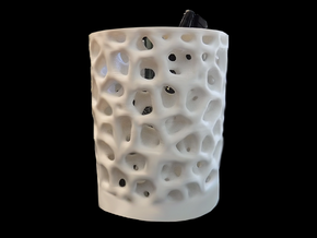 Cellular Pencil Holder in White Natural Versatile Plastic