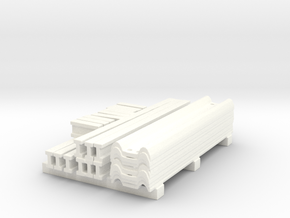 1/50th Guardrail parts stack  in White Processed Versatile Plastic