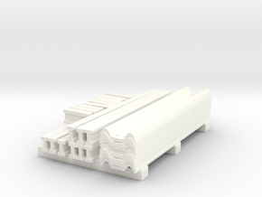 1/64th Guardrail parts stack in White Processed Versatile Plastic
