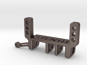 Steel Traxxas Portal SOA & 4 Link adapter in Polished Bronzed-Silver Steel