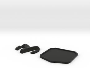 1:10 scale Dodge ram emblem in Black Natural Versatile Plastic